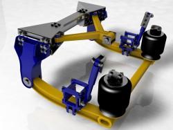 Air cargo arrière de suspension
