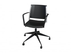 Office chair with armrests, polipro
