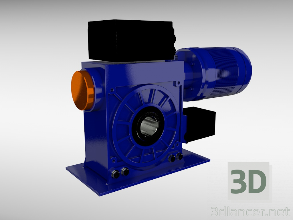 3d model electric motor - preview