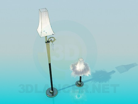 3d modeling Floor and table lamps model free download
