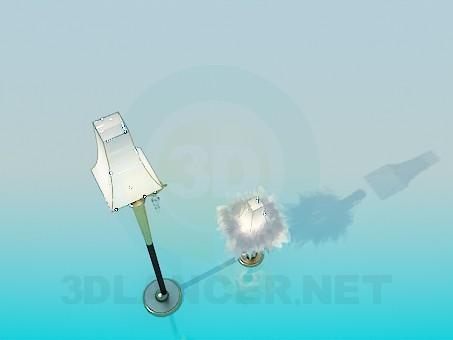 3d модель Напольный и настольный светильники – превью