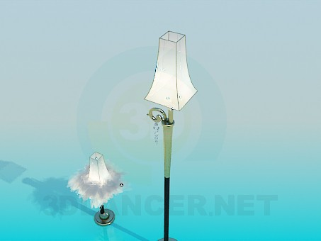3d model Floor and table lamps - preview