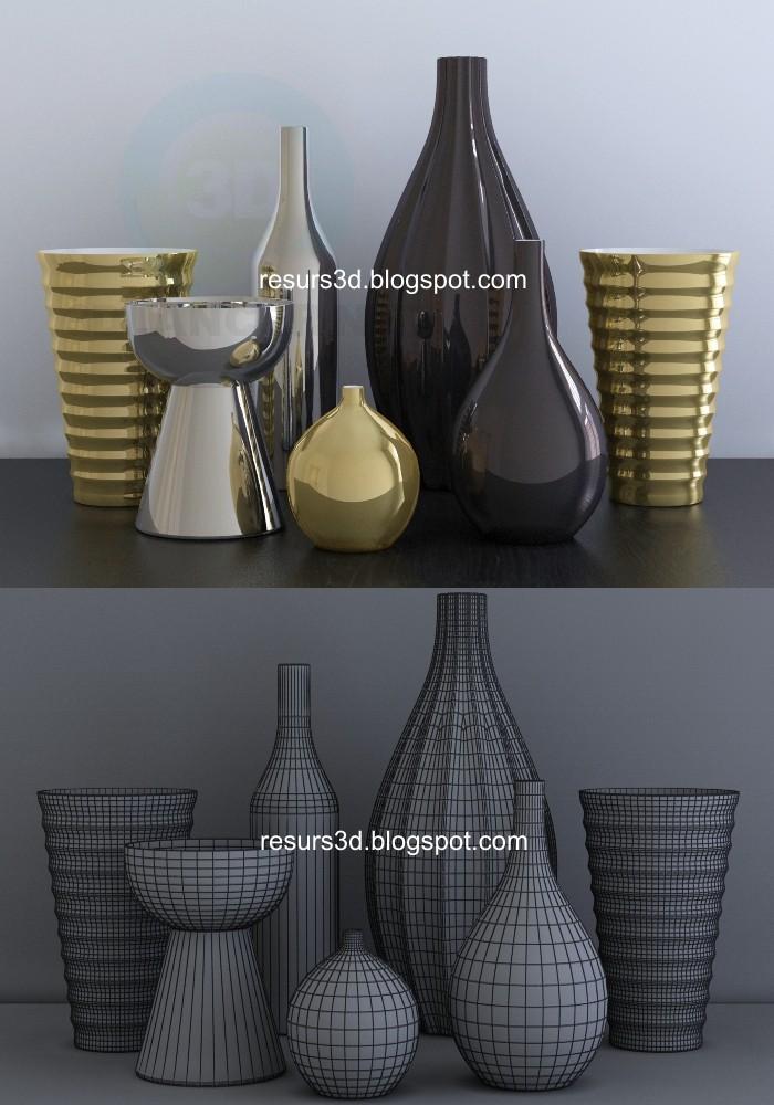 3d modeling Vases model free download