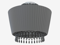 Ceiling lamp with lampshade (C110237 3black)