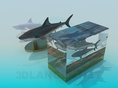 3d моделирование Декор рыбы на стол модель скачать бесплатно
