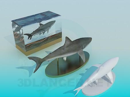 3d модель Декор рыбы на стол – превью
