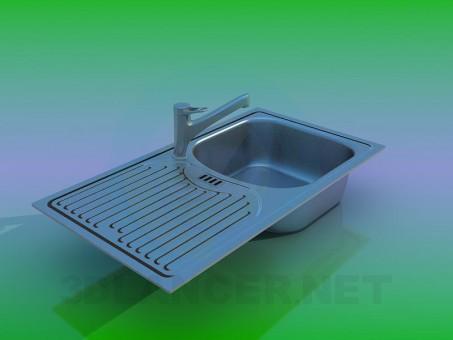 3d моделирование Кухонная мойка модель скачать бесплатно