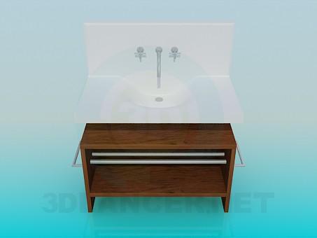 descarga gratuita de 3D modelado modelo Lavabo con pedestal