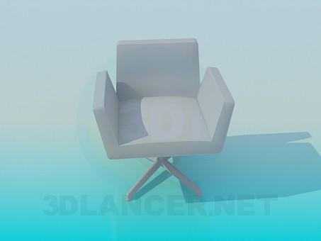 3d модель Кресло в офис – превью