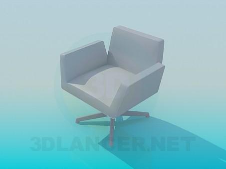 modelo 3D Silla en la oficina - escuchar