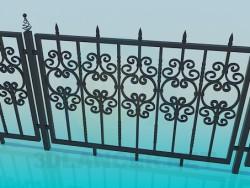 Die geschmiedeten Zaun