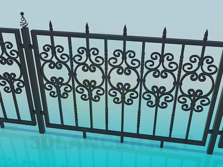 3d modeling Forged fence model free download
