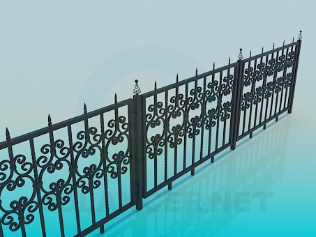 3d model Forged fence - preview