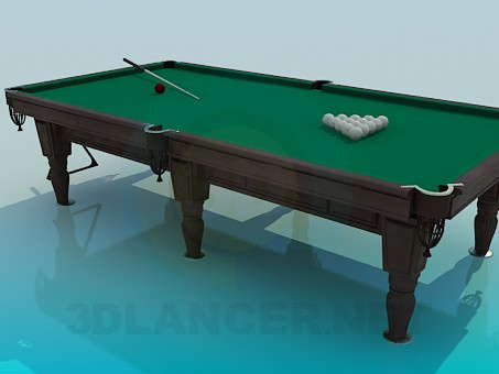 modèle 3D Table de billard - preview