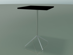 Tavolo quadrato 5714, 5731 (H 105 - 69x69 cm, aperto, Nero, LU1)