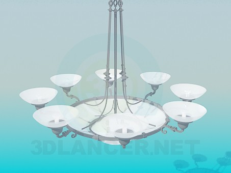 3d model Chandelier for the big room - preview