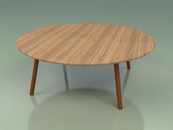 Coffee table 012 (Metal Rust, Teak)