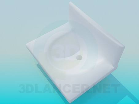 modelo 3D Fregadero de barra vertical - escuchar