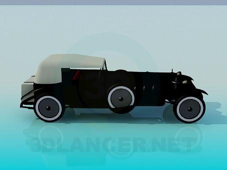 3d моделирование Раритетный автомобиль модель скачать бесплатно