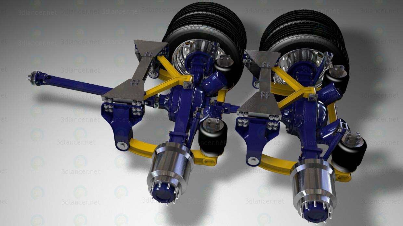 3d модель Задние мосты и карданы грузовые – превью