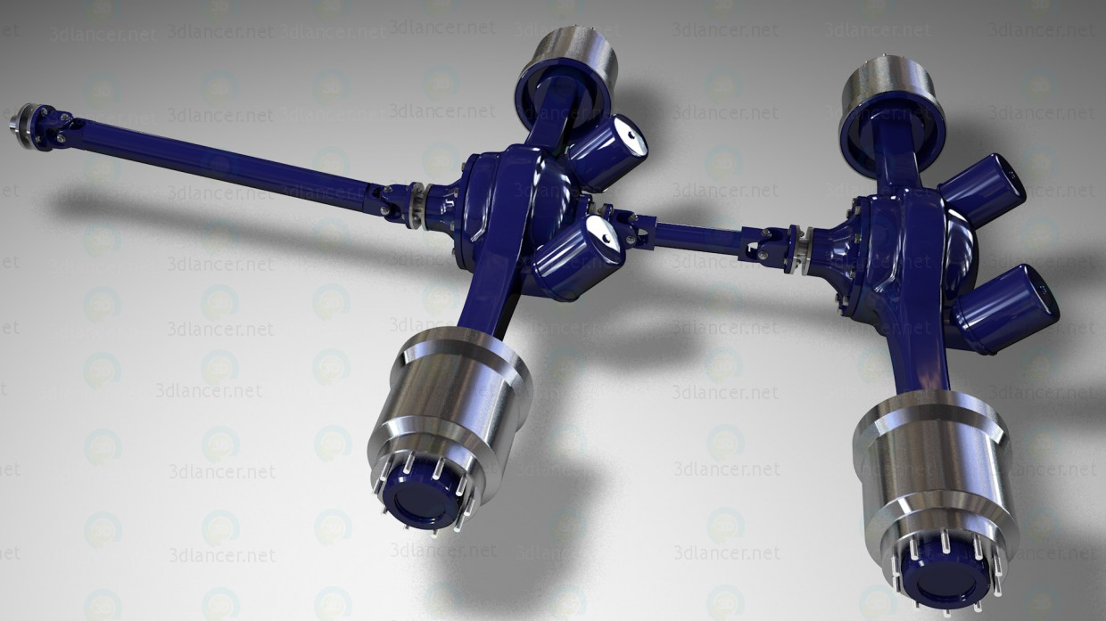 3d model Rear axles and driveline trucks - preview