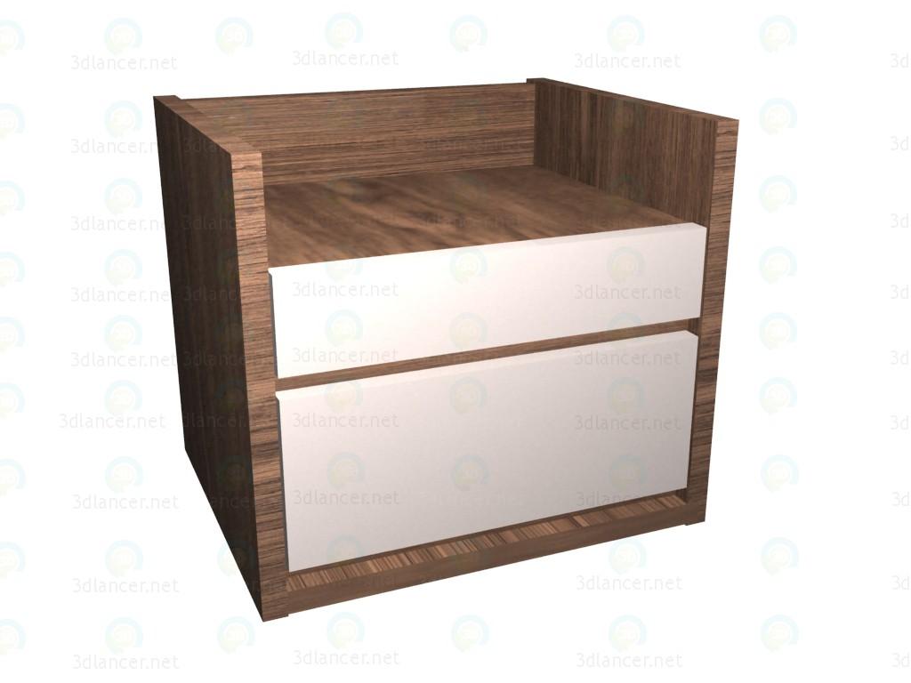3d модель Тумба письменного стола – превью