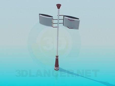 3d модель Фонарь уличный – превью