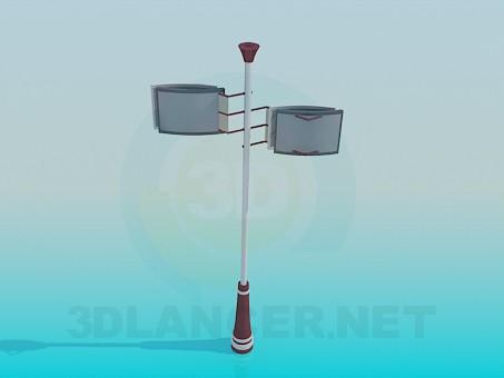 3d model Lamp street - preview