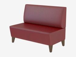Sofá de cuero moderno Mondi Settee
