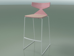 Stackable Bar Stool 3713 (with cushion, Pink, V12)