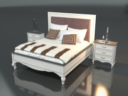 Double bed with side tables (art. 92187-92117)