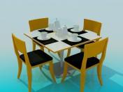 Засервированный чайный столик