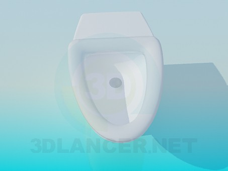 3d modeling Triangle toilet model free download