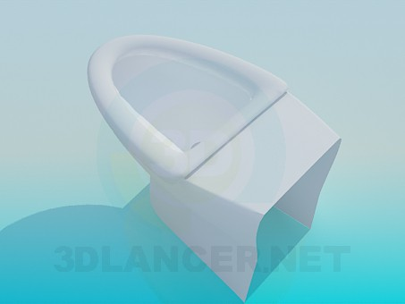 3d model Triangle toilet - preview