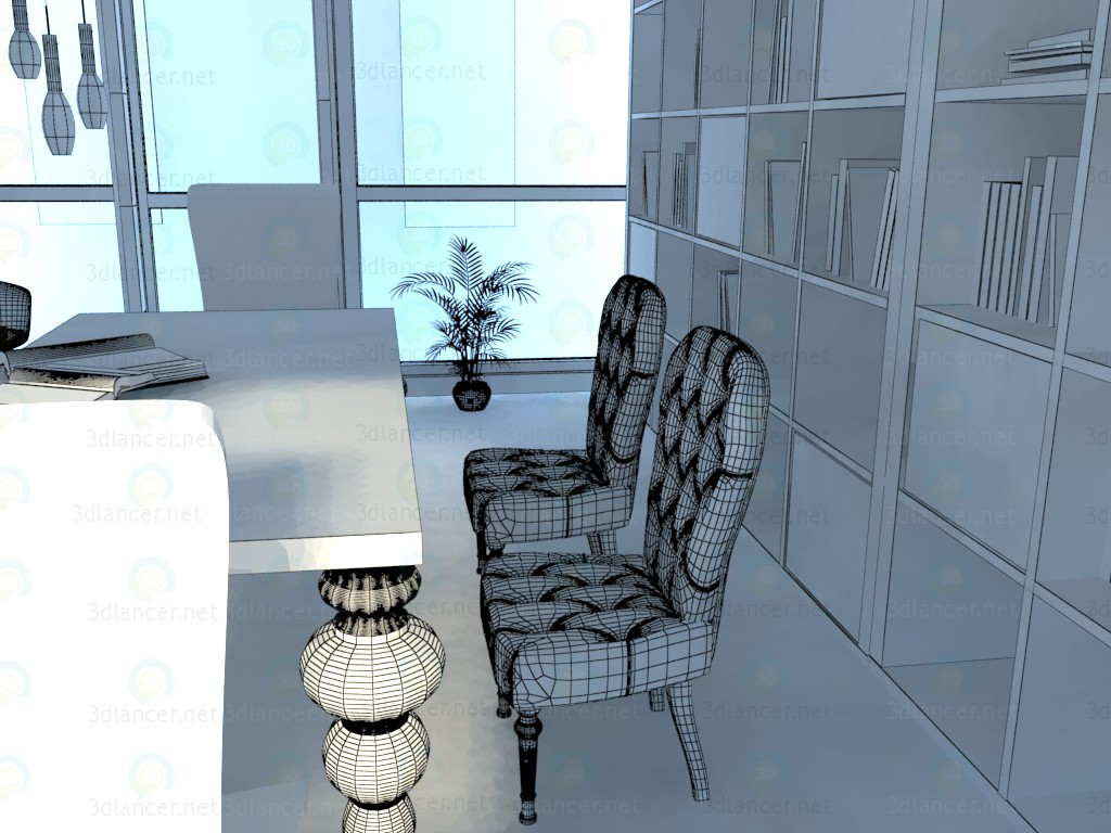 3d Library model buy - render