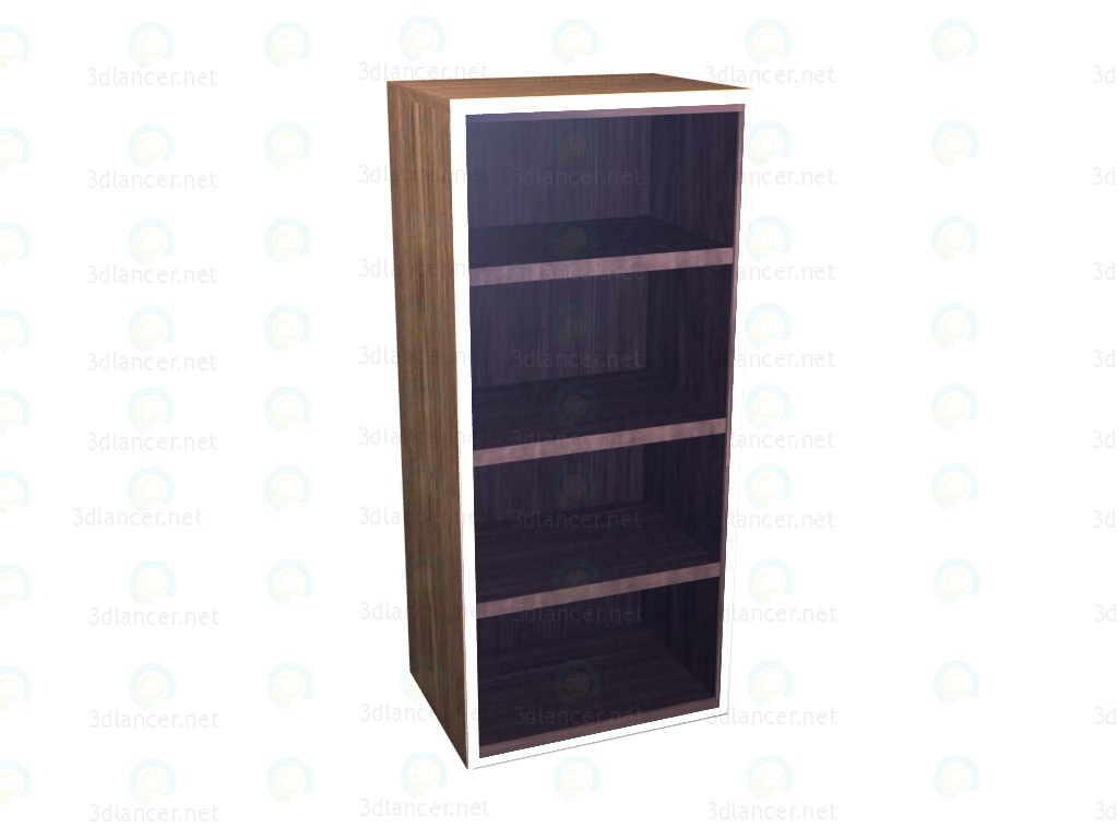 3d model Wardrobe vertical hinged with glass door VOX - preview
