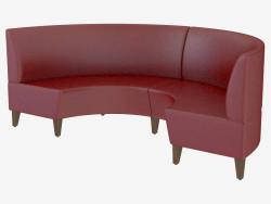 Sofá de cuero moderno Mondi U Settee