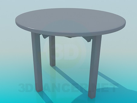 3d modeling Round dining table model free download