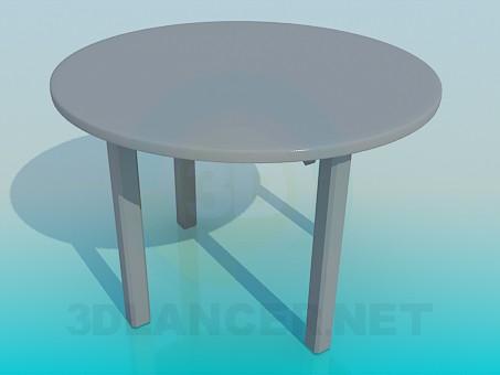 3d модель Круглый обеденый столик – превью