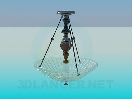 3d модель Люстра со стеклянным блюдом – превью