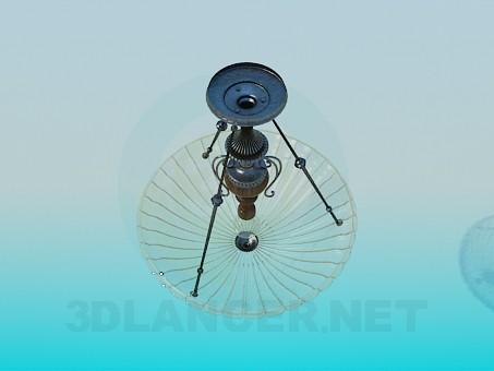 modelo 3D Lámpara Chandelier con platillo de vidrio - escuchar