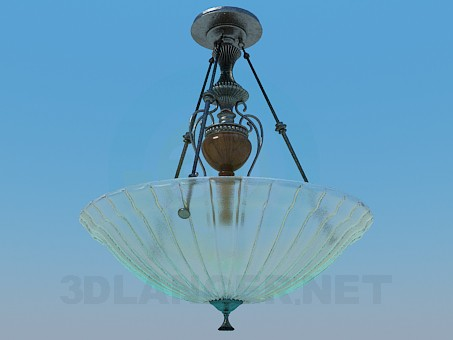 3d model Chandelier with glass dish - preview