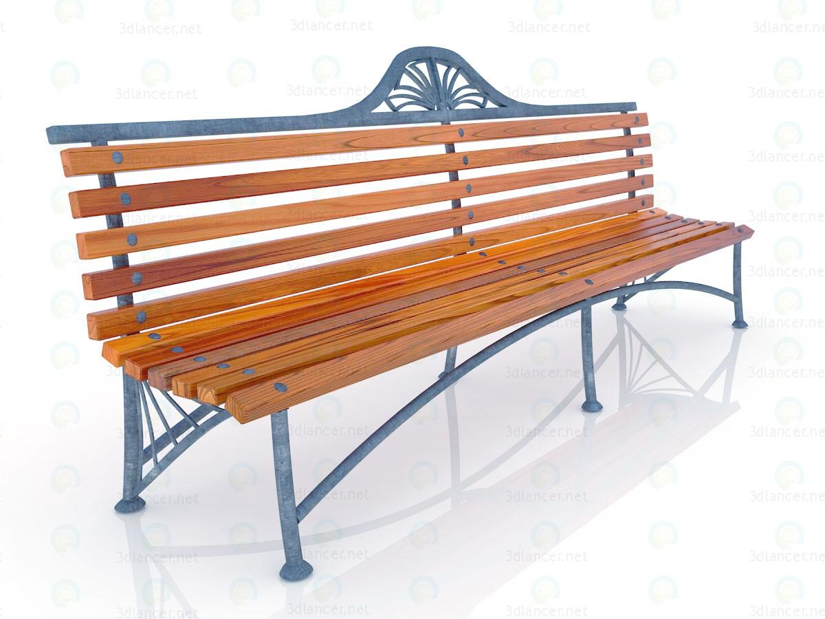 3d Скамейке в парке модель купить - ракурс