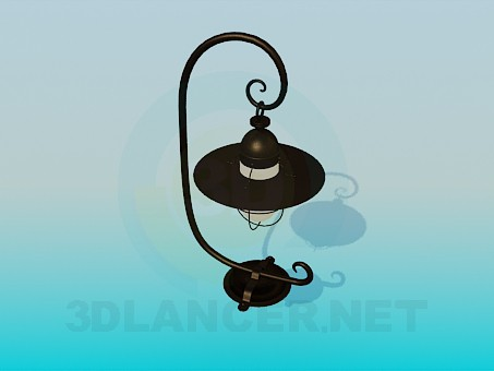 3d model Lamp street wall - preview