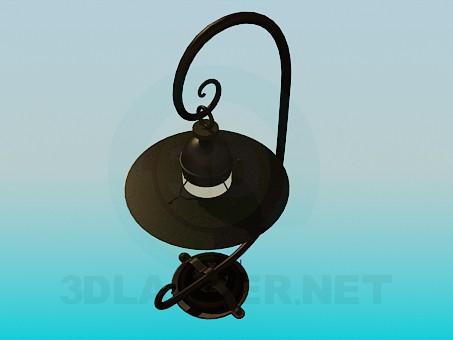 modelo 3D Wall street lámpara - escuchar