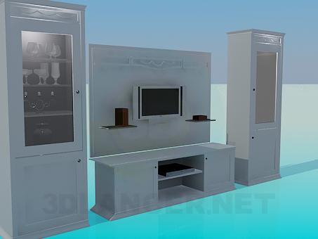 3d модель Набор мебели в гостинную – превью