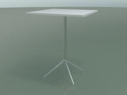 Стол квадратный 5715, 5732 (H 104,5 - 79x79 cm, White, LU1)