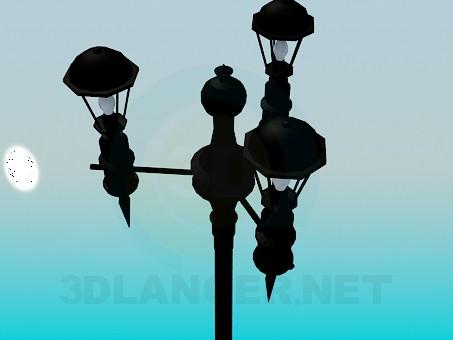 modelo 3D Lámpara de calle - escuchar