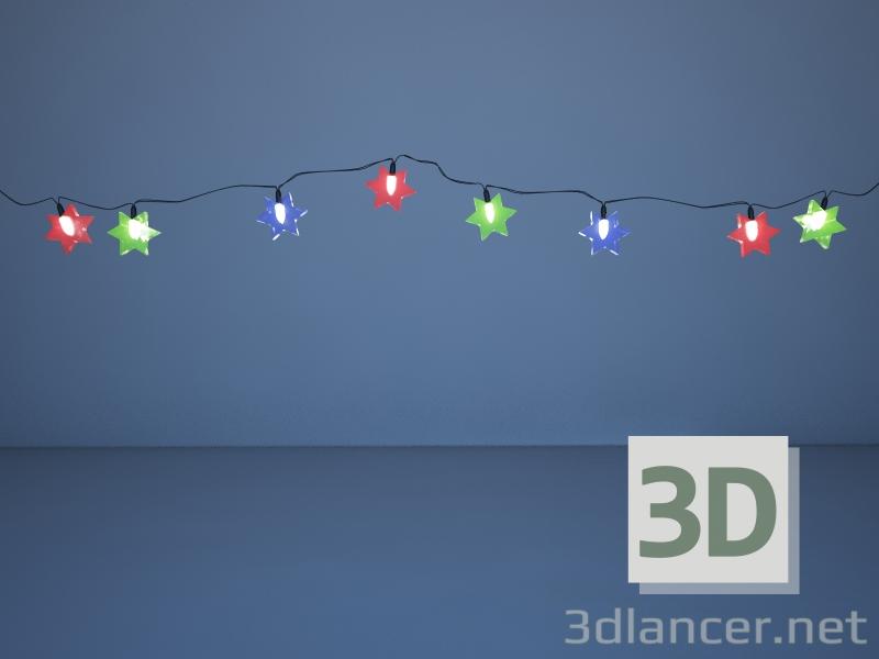 3d Christmas tree garland model buy - render