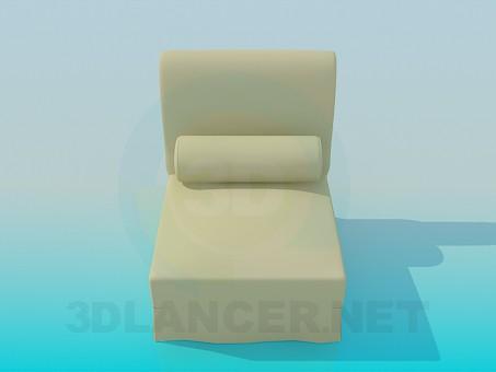 descarga gratuita de 3D modelado modelo Silla con rodillo
